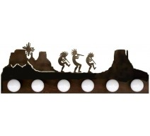 image for Kokopelli Desert Southwest Vanity Light Bar 6 bulb