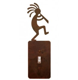 image for Kokopelli Flute Player Steel Switch Plate/Outlet Cover 5 Colors