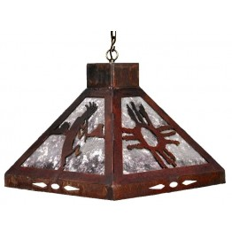 image for Kopkopelli & Hopi Sun Motif Square Pendant Light