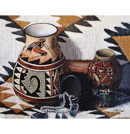 image for Kokopelli Pot Southwest Woven Placemat 8-Pc