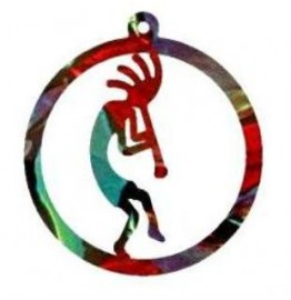 image for Kokopelli Southwest Christmas Ornament