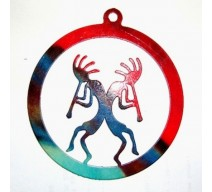 image for Kokopelli Twins Southwest Christmas Tree Ornament - LAST ONE
