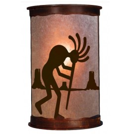 image for Kokopelli Southwest Half Round Wall Sconce Small