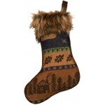 image for Lakeshore Wool Blend & Faux Coyote Fur Christmas Stocking