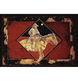 image for Late Night Express Cowboy Woven Placemat Set of 8