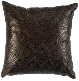 image for Gateway Western Embossed Leather Throw Pillow 16 x 16