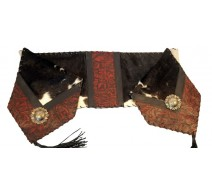 image for Black & White Cowhide and Leather Table Runner 12 x 72