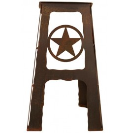 image for Texas Lonestar Metal Saddle Seat Kitchen Counter Stool 24""