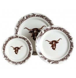 image for Longhorn Western Dinnerware 3-Pc Plate Set
