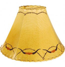image for Longhorn Horns Hand Painted Leather Lampshade