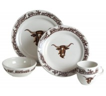 image for Longhorn Western Dinnerware 16-Pc Set