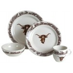 image for Longhorn Western Dinnerware 4-Pc Place Setting