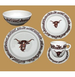 Longhorn Western Dinnerware 5-Pc Place Setting