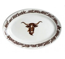 image for Longhorn Western Oval Serving Platter