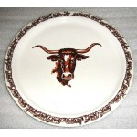 image for Longhorn Western 14 inch Round Serving Platter