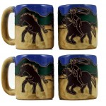 image for Cowboy 4-Pc Mara Stoneware Mugs 16-oz