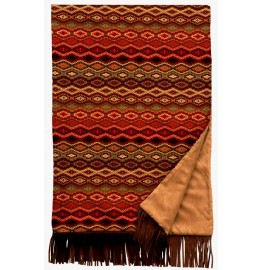 image for Marquise IV Southwest Leather Fringed Throw Blanket