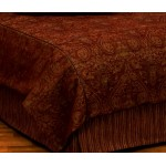 image for Milady Paisley Chenille Old West Duvet Cover