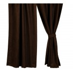 image for Dark Brown Suede Drapery Panel 54 x 84