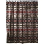 image for Montana Geometric Southwest Fabric Shower Curtain
