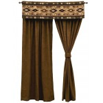 image for Mountain Storm Valance & Caprice Truffle Drapery Set 84 Long
