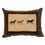 image for Wild Horses Western Throw Pillow 10 x 13