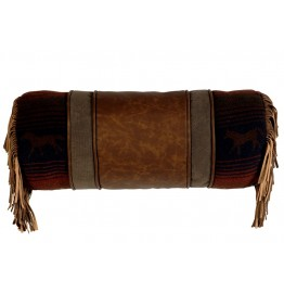 image for Mustang Canyon Western Neck-Roll Pillow 9x24