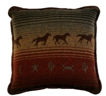image for Mustang Canyon Western Throw Pillow 20 x 20
