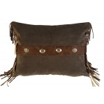 image for Raven Suede & Leather Pillow Cover Std & King
