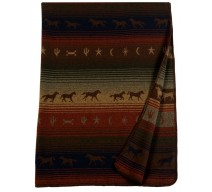 image for Mustang Canyon Western Horses Throw Blanket