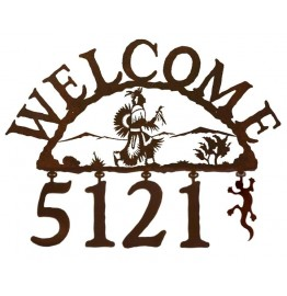 image for Native American Rain Dancer Address Sign