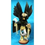 image for CROW Raven Kachina Doll Navajo Made 2 sizes