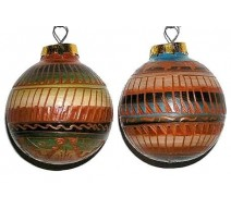 image for Etched Red Clay Navajo Pottery Southwest Christmas Ornament