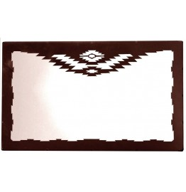image for Navajo Design Horizontal Southwest Wall Mirror 30 x 22