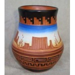 image for Navajo Etchware Wide Mouth Vase 5 x 4