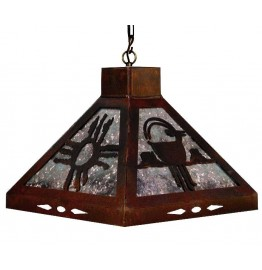 image for Wild Horses Western Square Pendant Light