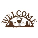 image for Navajo Goat Southwestern Rustic Welcome Sign