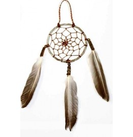 image for Mini Navajo Leather Dream Catcher Ornament