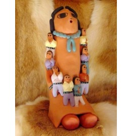 image for Navajo Storyteller Pottery 8 Children 10 inch