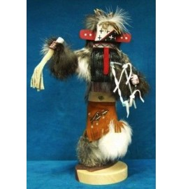 image for WARRIOR Kachina Doll Navajo Made 3 sizes