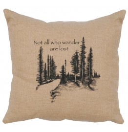 image for The Wanderer Natural Linen Decorative Throw Pillow 16 x 16