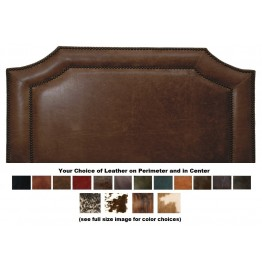 image for Outlaw Leather Upholstered QUEEN Headboard