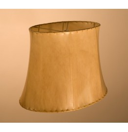 image for Traditional Oval Natural Rawhide Sheepskin Leather Lampshade 10x13x9