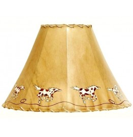 image for Painted Ponies Hand Painted Leather Lampshade