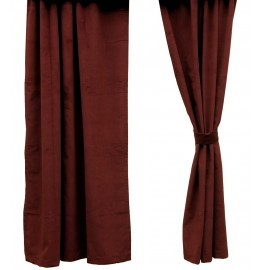 Wine Micro-Chenille Drapery Set 84 Long