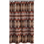 image for Pecos Trail Southwestern Fabric Shower Curtain