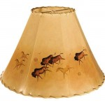 image for Buffalo Peteroglyphs Hand Painted Leather Lampshades