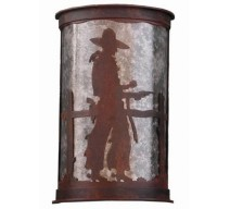 image for Pistol Drawn Cowboy Half Round Wall Sconce Large