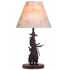 image for Pistol Drawn Cowboy Western Lamp & Shade 25""