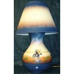 image for Proud Chief Southwest Navajo Pottery Lamp & Shade 7 sizes